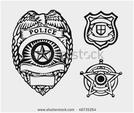 450x380 Sheriff Badge Outline Awesome 12 Generic Police Badge Vector
