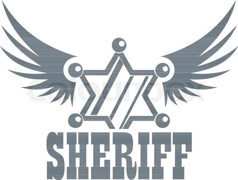 800x604 Sheriff Logo. Vintage Illustration Of Sheriff Vector Logo For Web
