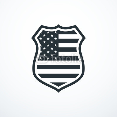 400x400 Shield With Usa Flag Elements. Usa Shield Icon. Vector