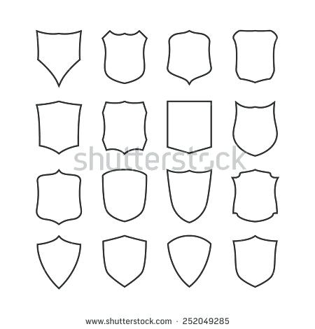 450x470 Shield Outline Vector Shapes Templates Template For Resume 2018