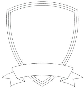 353x372 Amazing Blank Family Crest Template Shield Crown Coat Arms Vector