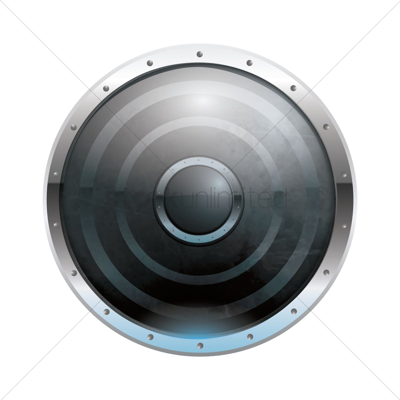 1300x1300 Round Shield Vector Image