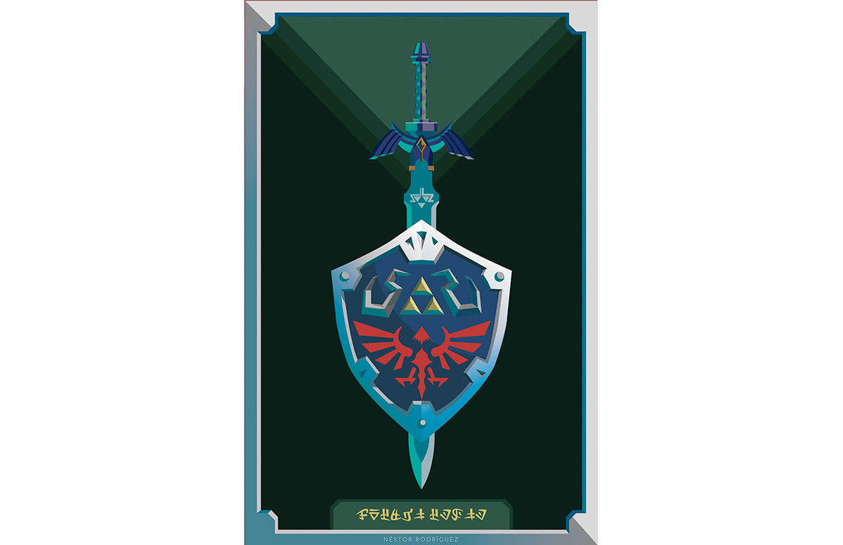 1200x776 Master Sword Amp Hylian Shield Vector Art On Behance