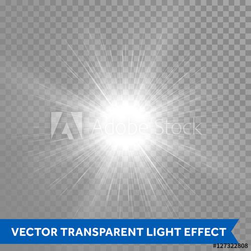 500x500 Light Glow Shine. Vector Star Burst Effect