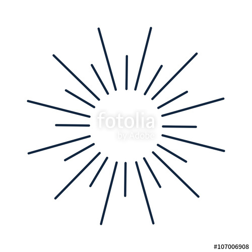500x500 Abstract Sun Lines Shine Circle And Sun Lines Decorations Ray. Sun