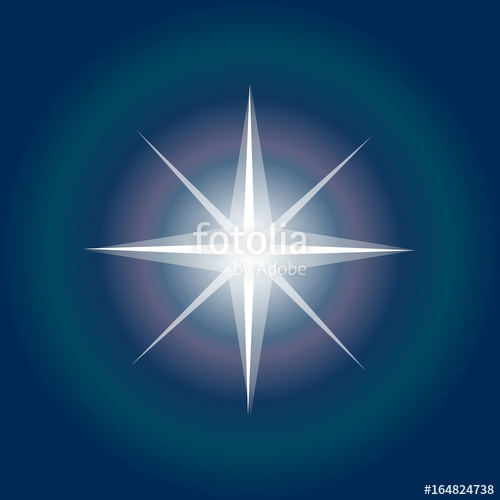 500x500 Star Icon. Northern Star Lights. Christmas Star On Night Sky