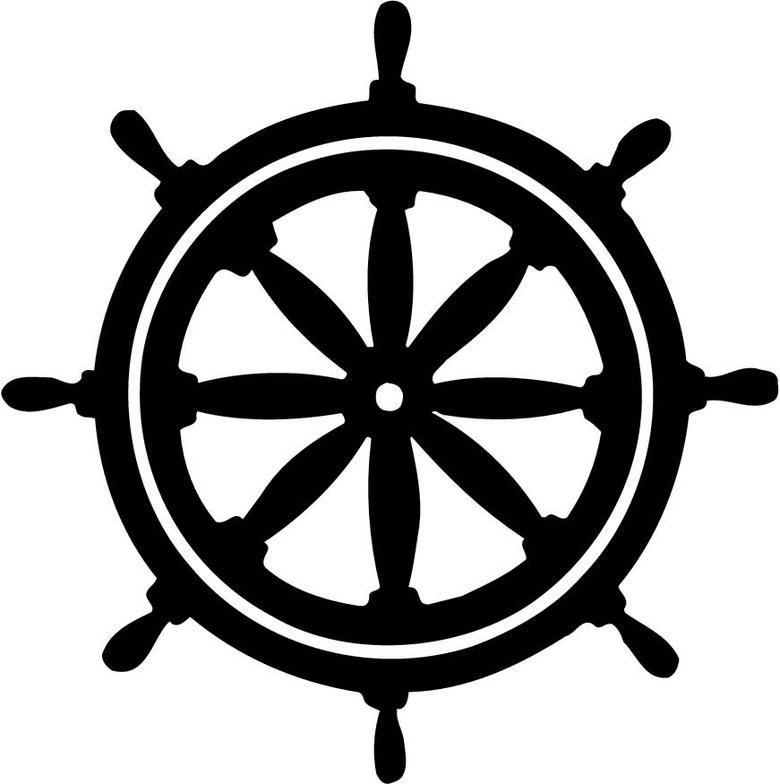 780x784 Pirate Ship Steering Wheel Vector