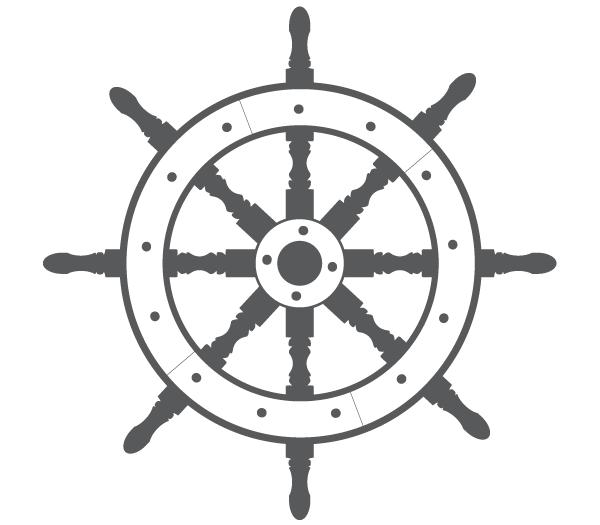 600x525 Ship Steering Wheel Free Vector 123freevectors