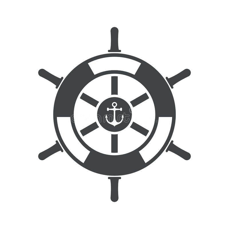 800x800 Ship Wheel Vector Icon Marine Rudder Illustration Isolated On