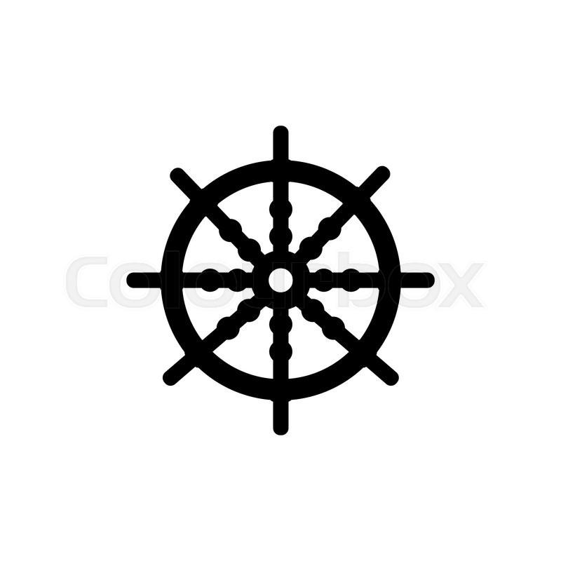 800x800 Ship Steering Wheel Stock Vector Colourbox