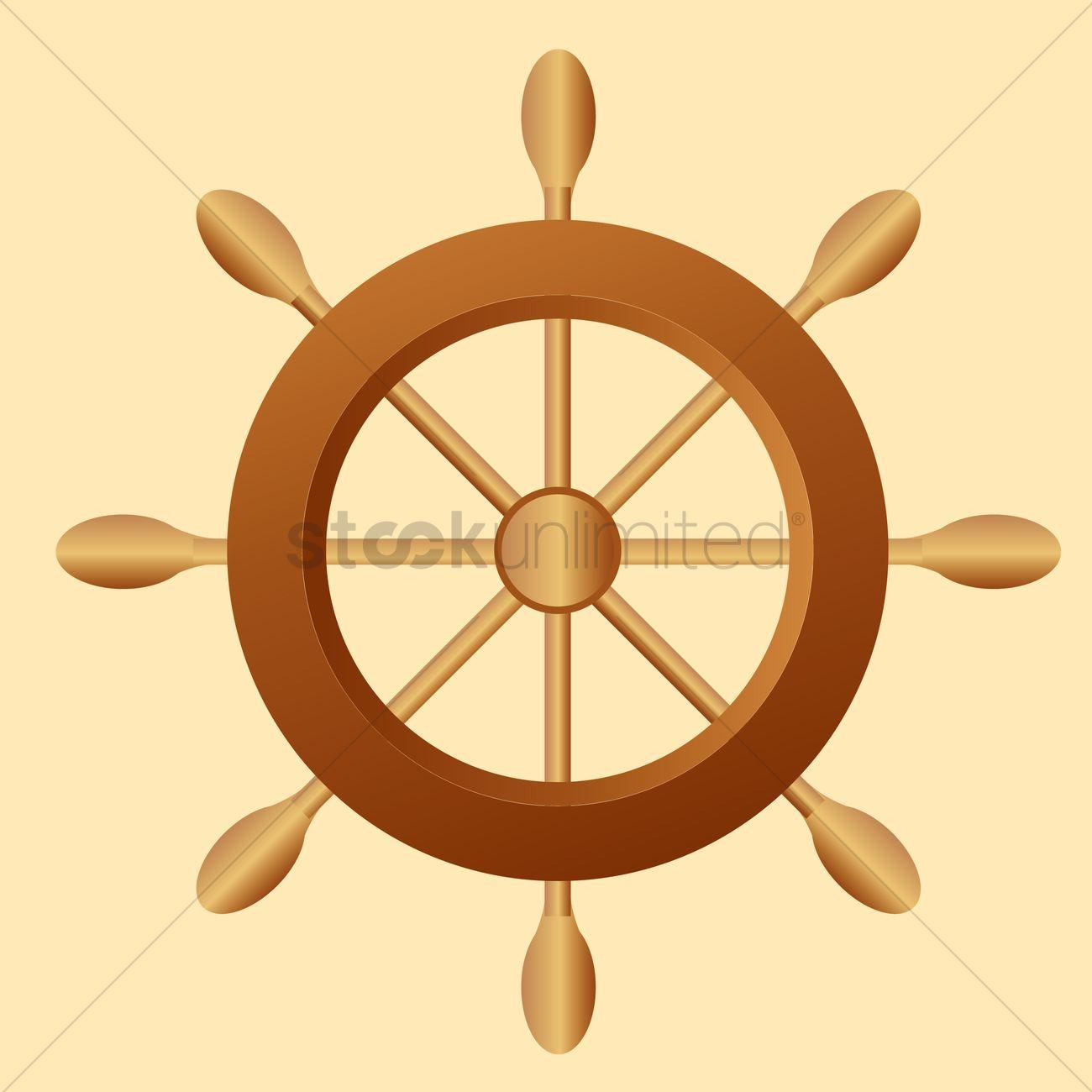 1300x1300 Ship Steering Wheel Vector Image