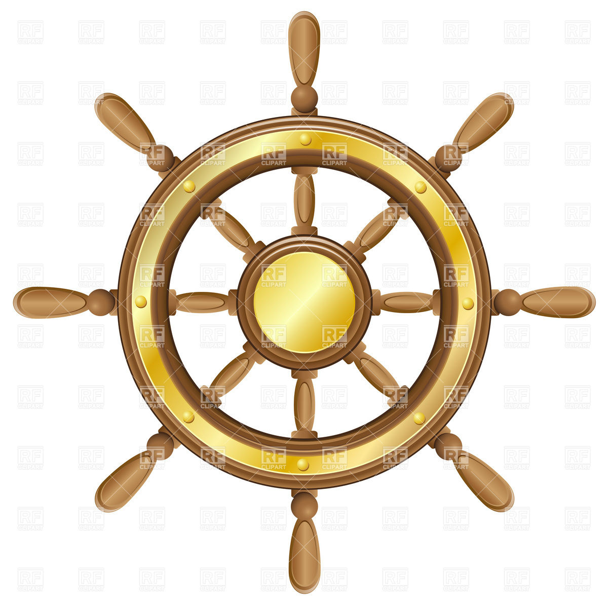 1200x1200 Ship Steering Wheel Vector Image Vector Artwork Of Objects