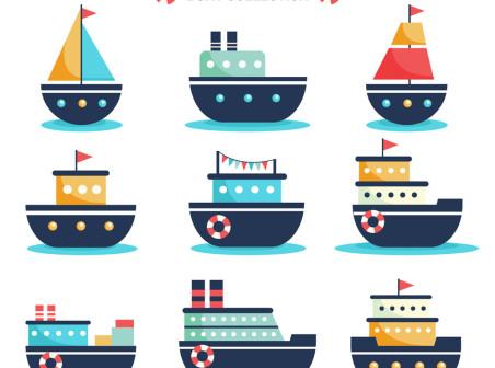 452x336 9 Creative Cartoon Ship Vector Material Icons Free 9 Creative