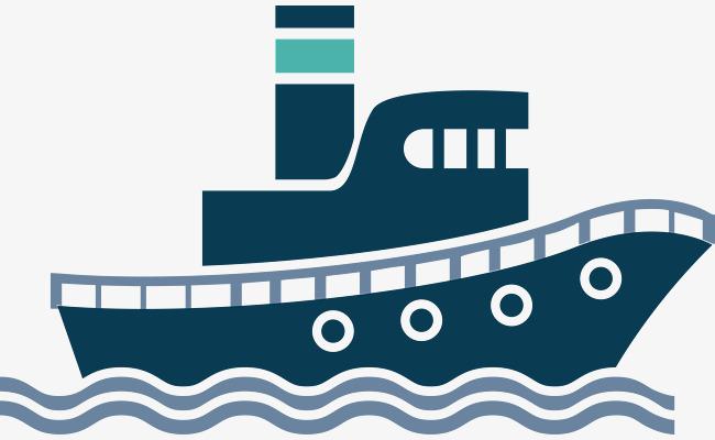 650x400 Flat Steamer, Marine Logistics, Cartoon Cargo Ship, Vector Cargo