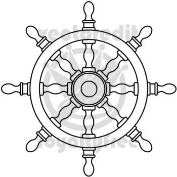 350x350 Sea Ship Wheel Tattoo Drawing Ships Wheel Vector Illustration