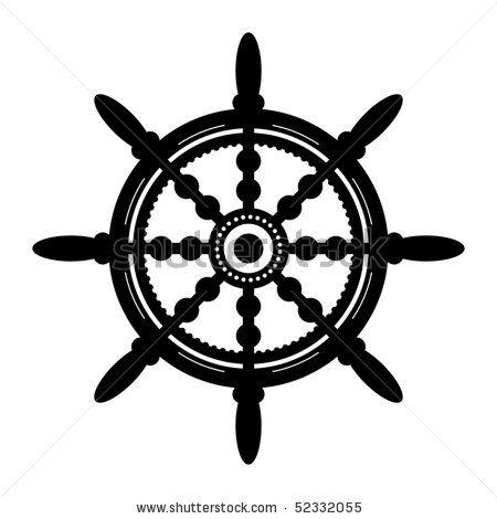 450x470 Ship Wheel Stencil Ship Steering Wheel, Vector Illustration