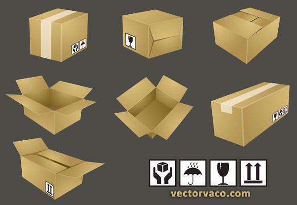 600x415 Free Shipping Box Vector Illustration 123freevectors