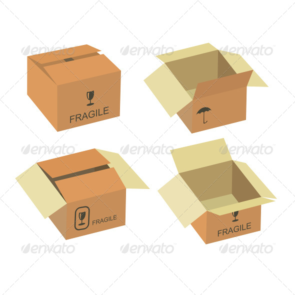 590x590 Shipping Box Vector Set By Jupea Graphicriver