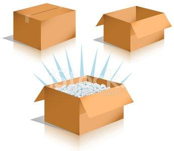 346x299 Shipping Boxes [Vector] Stock Vectors