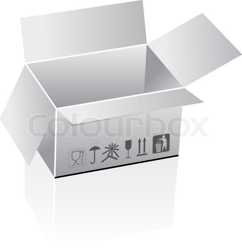 774x800 Shipping Box Vector Stock Vector Colourbox