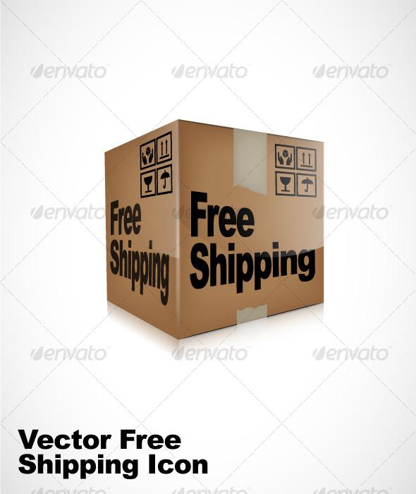 590x700 Vector Free Shipping Box Icon By Grafiko Graphicriver