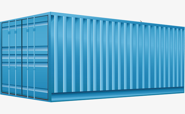 650x400 Container Png Vector Element, Shipping, Vector, Blue Png And