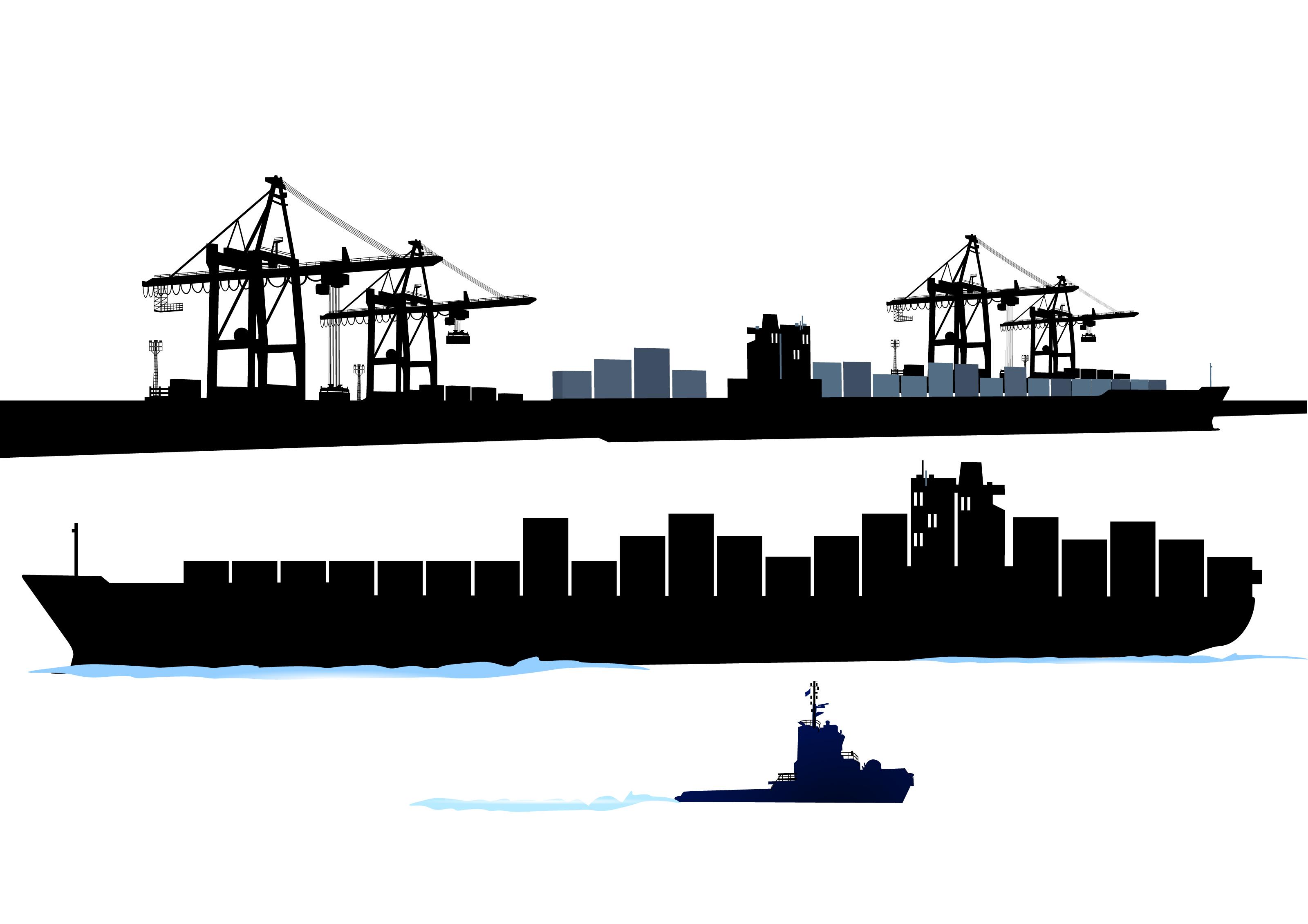 3200x2261 Container Shipping Design Vector Set 03