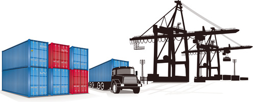 495x201 Container Shipping Design Vector Set Free Vector In Encapsulated