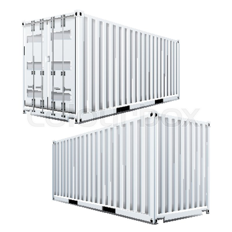 800x800 3d Cargo Container Vector. Classic Cargo Container. Freight