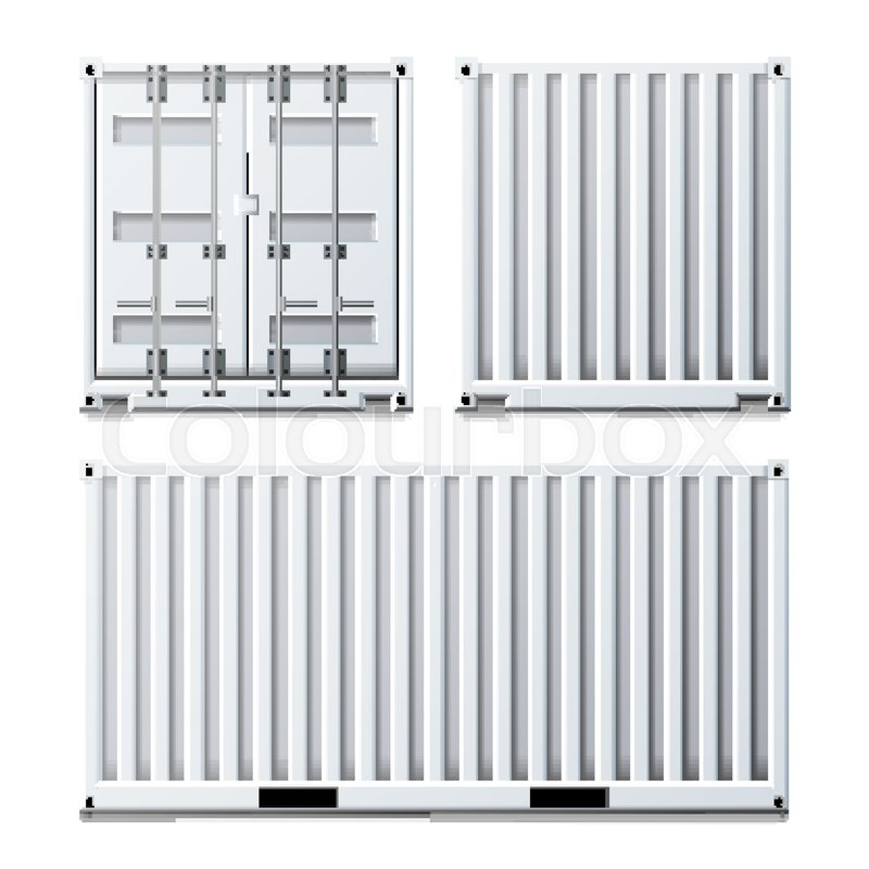 800x800 Cargo Container Vector. Classic Cargo Container. Freight Shipping