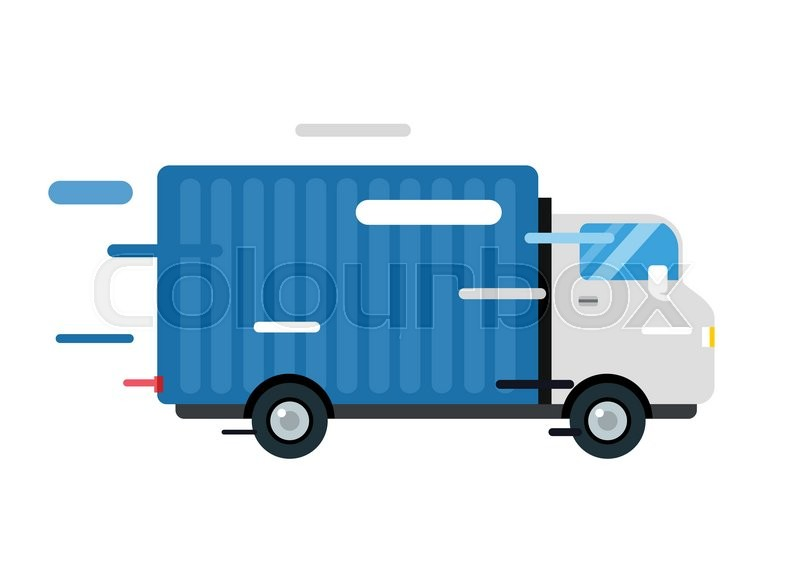 800x578 Delivery Vector Truck. Delivery Service Van. Delivery Van Vector