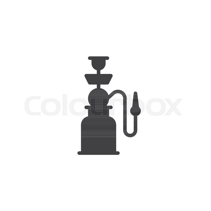 800x800 Shisha Pipe Vector Icon. Filled Flat Sign For Mobile Concept And