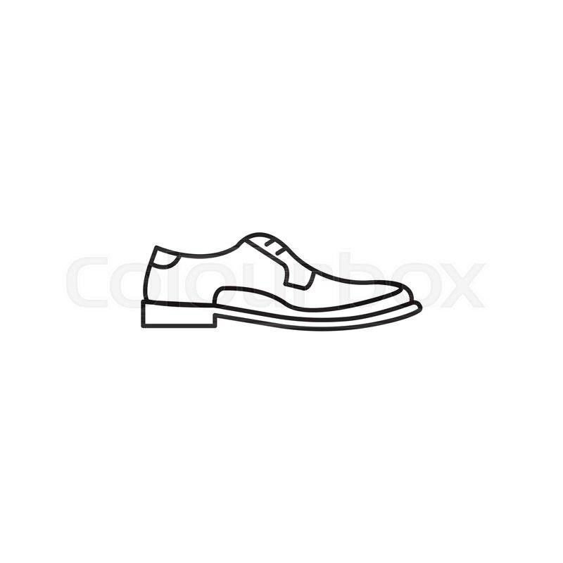 800x800 Men Shoes Outline Icon. Men Shoes Vector Illustration Isolated On
