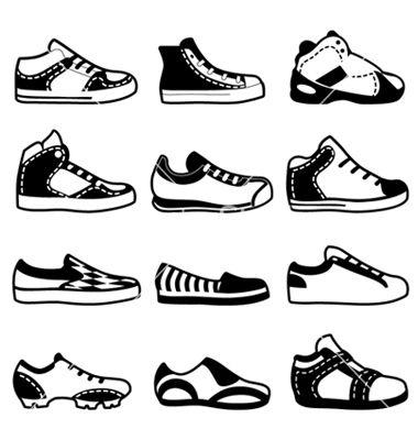 380x400 Sport Shoes Vector Seapatu Adobe Illustrator And Adobe