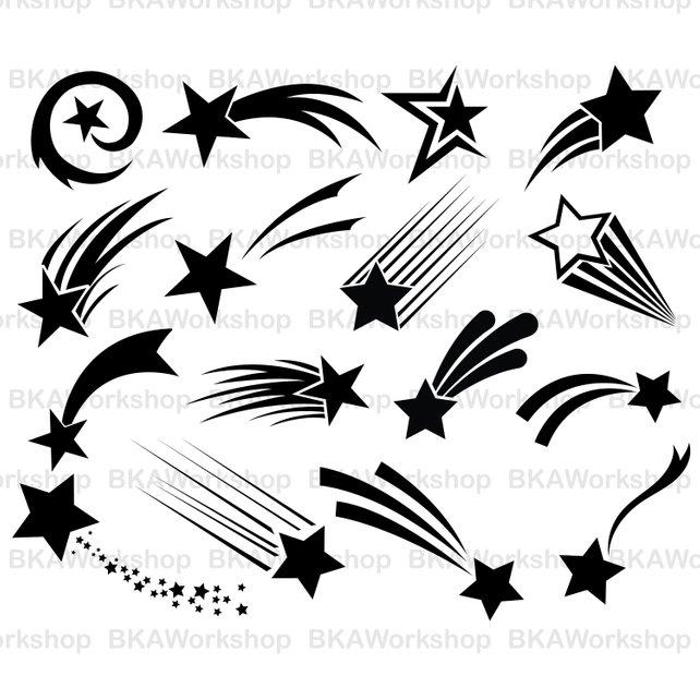 642x642 Star Svg Star Vector Shooting Star Svg Shooting Star Etsy