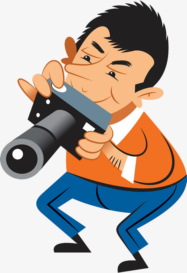 650x949 Camera Focus Shooting Vector Characters, Camera Clipart, Camera