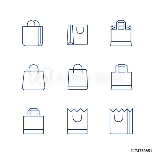 500x500 Shopping Bag Line Icon Vector Shopping Bag Icon Shopping Bag