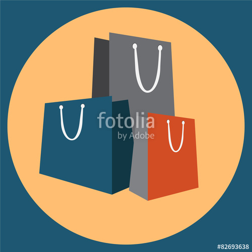 500x500 Shopping Bag Icon Vector Illustration Stock Image And Royalty