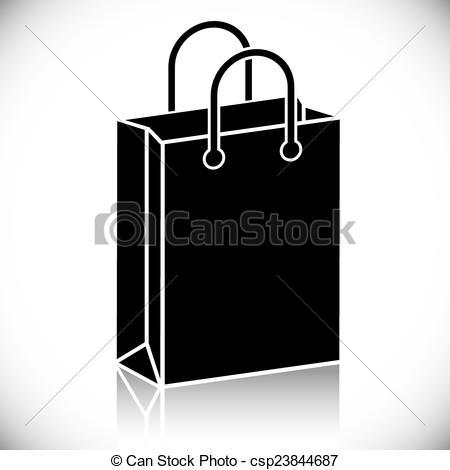 450x470 Shopping Bag Icon. Black Shopping Bag Icon, Vector.
