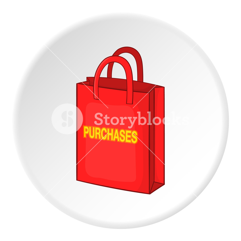 1000x1000 Shopping Bag Icon. Isometric Illustration Of Shopping Bag Vector