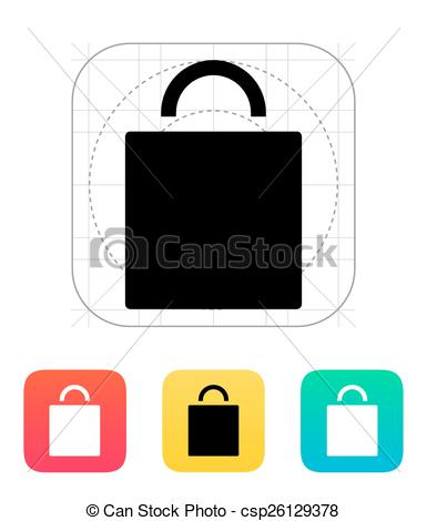 385x470 Shopping Bag Icon. Vector Illustration.