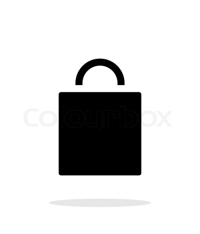 686x800 Shopping Bag Simple Icon On White Background. Vector Illustration