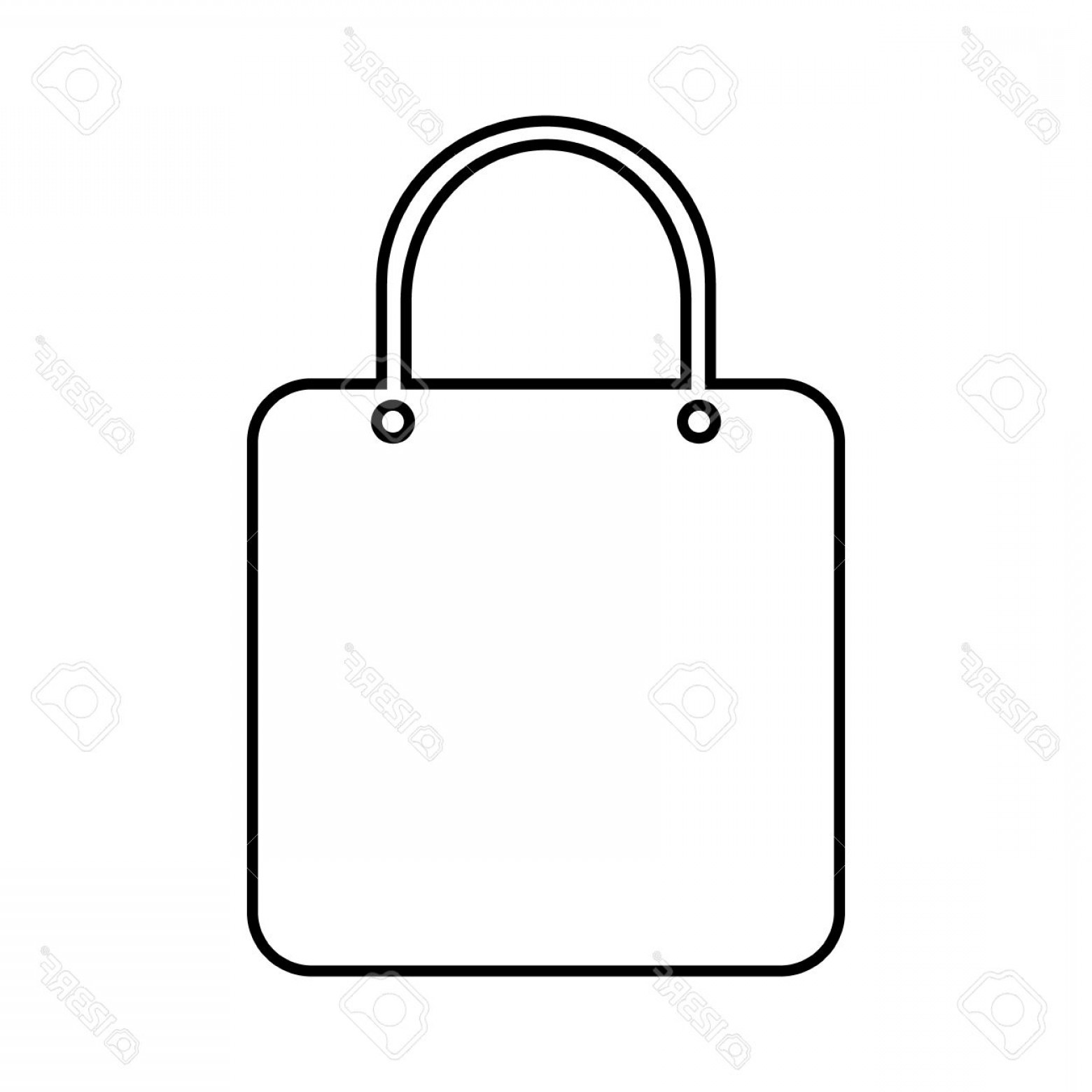 1560x1560 Photostock Vector Shopping Bag Icon On White Background Shopatcloth