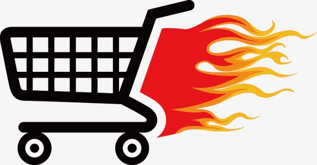 650x340 Flame Shopping Cart Icon, Shopping Cart, Flame, Shopping Png And