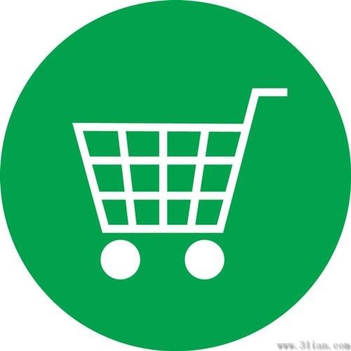 500x500 Green Shopping Cart Icon Vector Free Vector In Adobe Illustrator