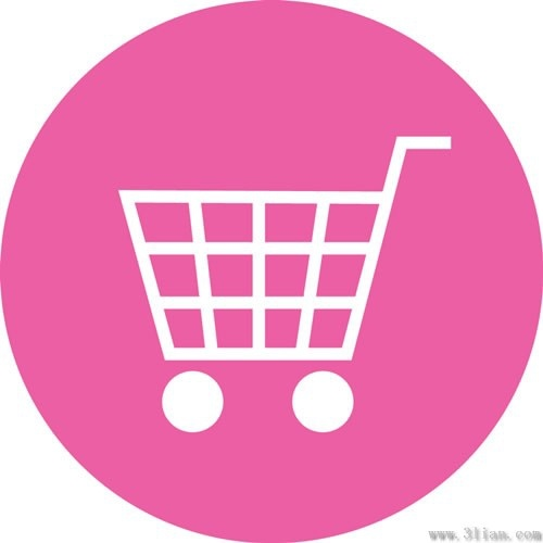 500x500 Pink Shopping Cart Icon Vector Free Vector In Adobe Illustrator Ai