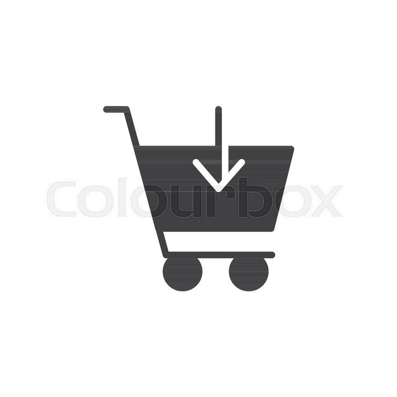 800x800 Add To Shopping Cart Icon Vector, Filled Flat Sign, Solid