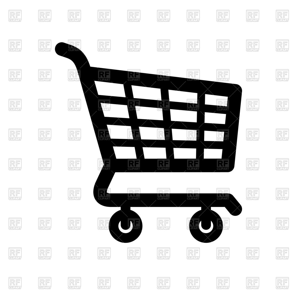 1200x1200 Shopping Cart Icon On White Background Vector Image Vector