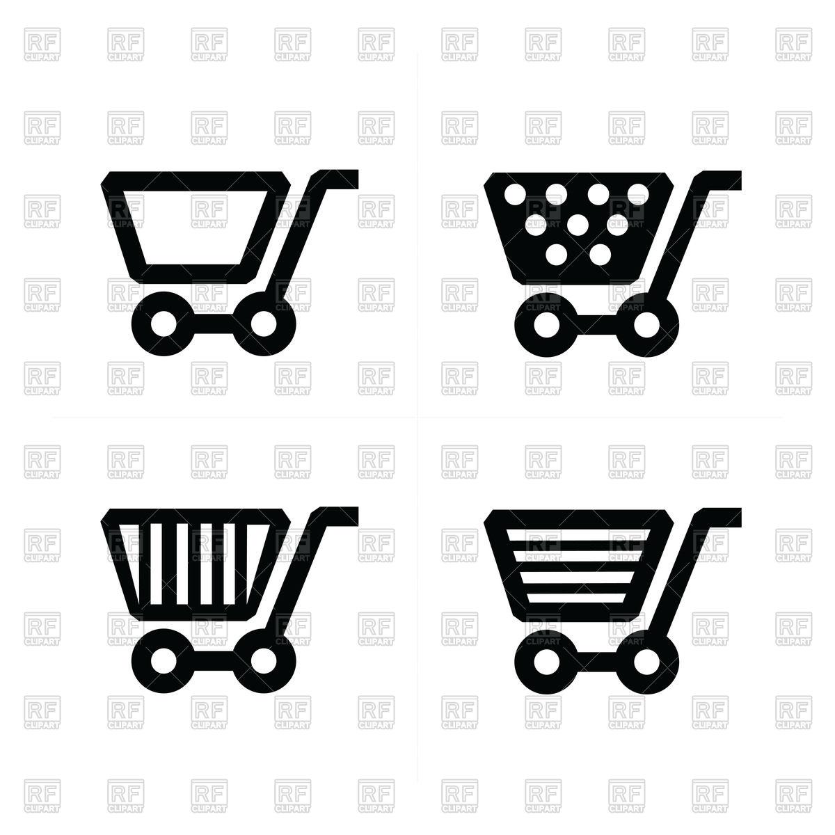 1200x1200 Shopping Cart Icons Set