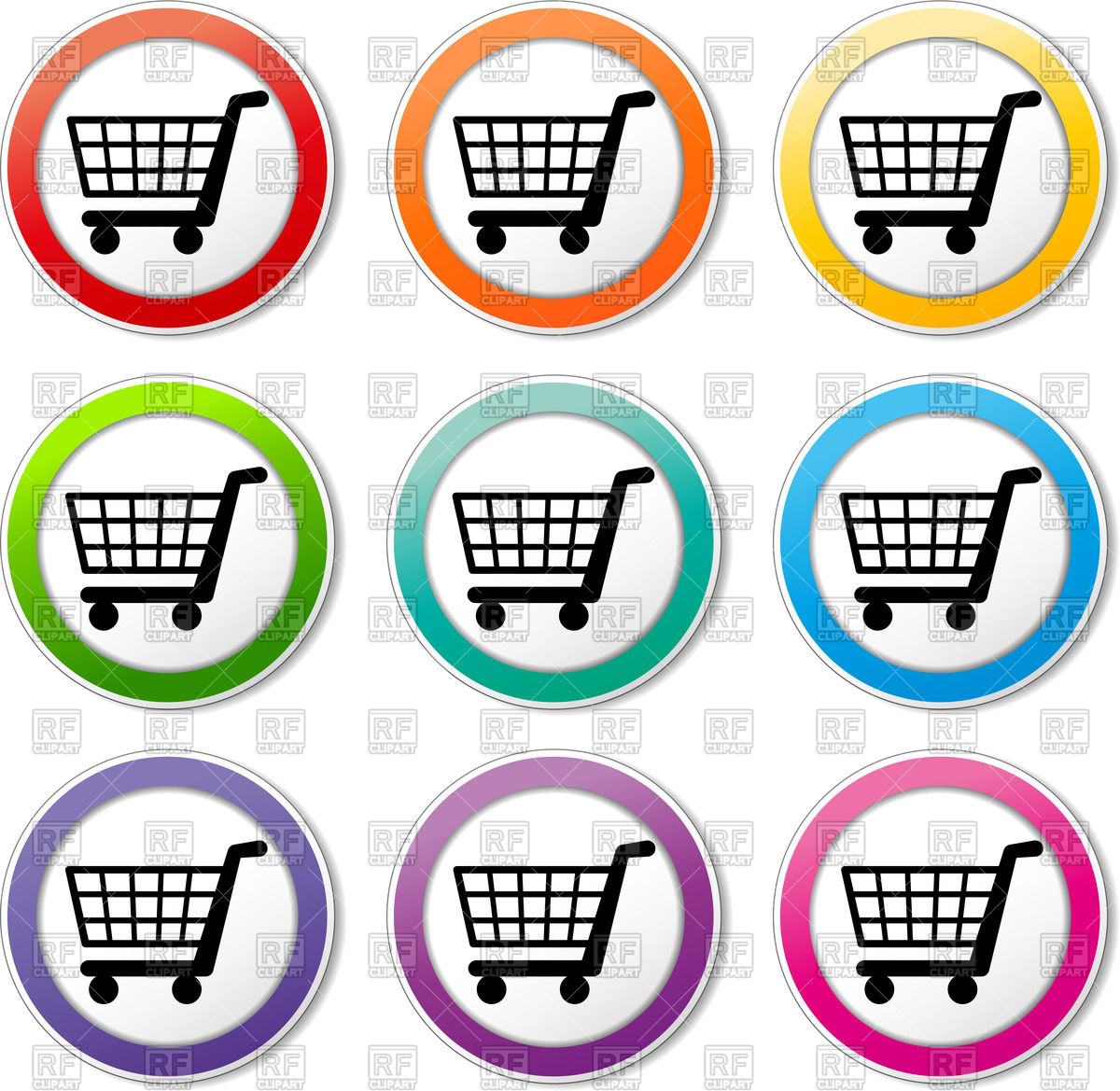 1200x1169 Shopping Cart Round Icon Vector Image Vector Artwork Of Icons